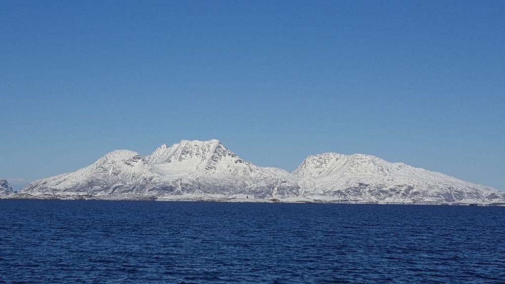 Dønnamannen sett fra Søvik. Foto: Kristin Grande