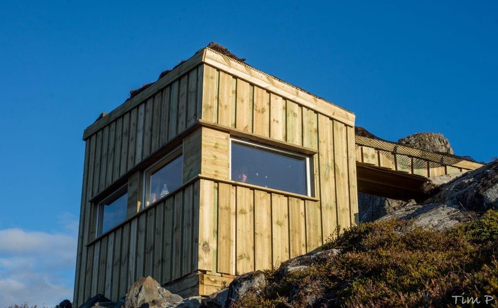Den arkitekttegnede gapahuken er blitt et utkikkshus og asmlingssted litt utenom det vanlige.