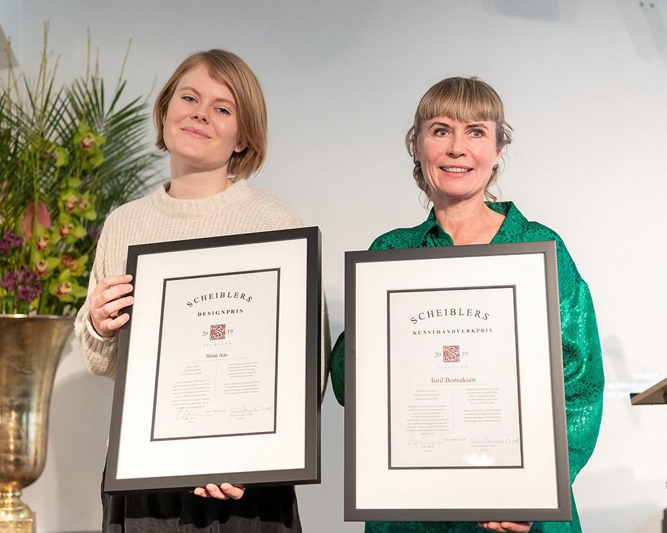 Stine Aas og Toril Bonsaksen, sistnevnte med base i Sandnessjøen, har fått Scheibler-prisen for sine skapende evner.
