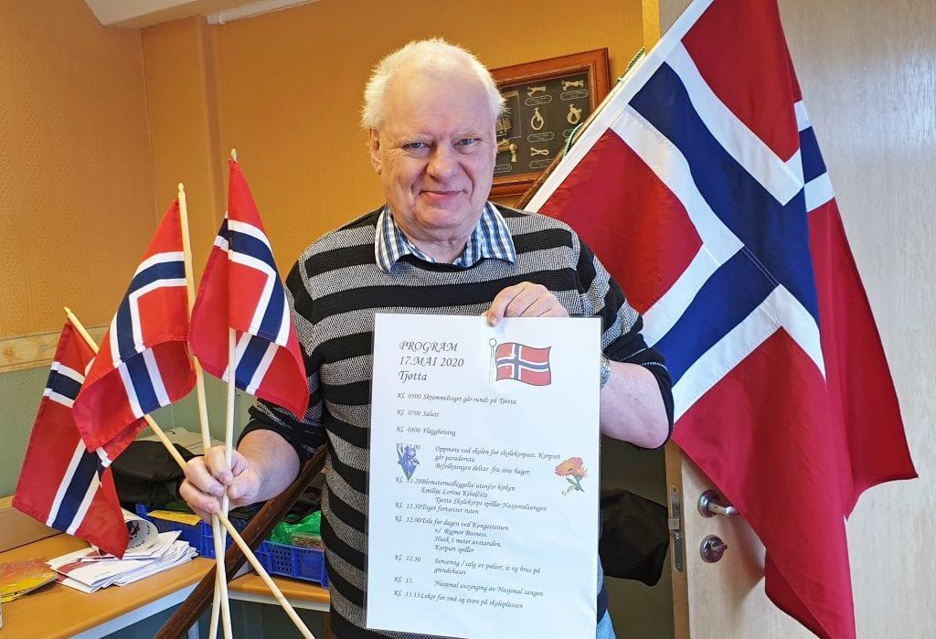 Ulf Iversen er komitéleder. Han gleder seg til 17. maifeiring på Tjøtta, om enn i en litt mindre omfattende form enn før.