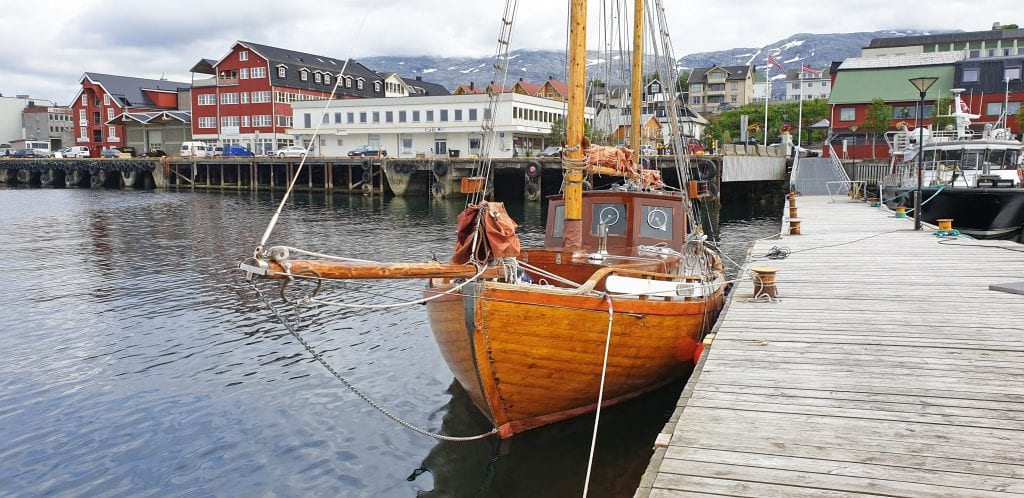 """""""Bruse"""" er navnet på Colin Archer-modellen som lå i Sandnessjøen tidligere i denne uka."""