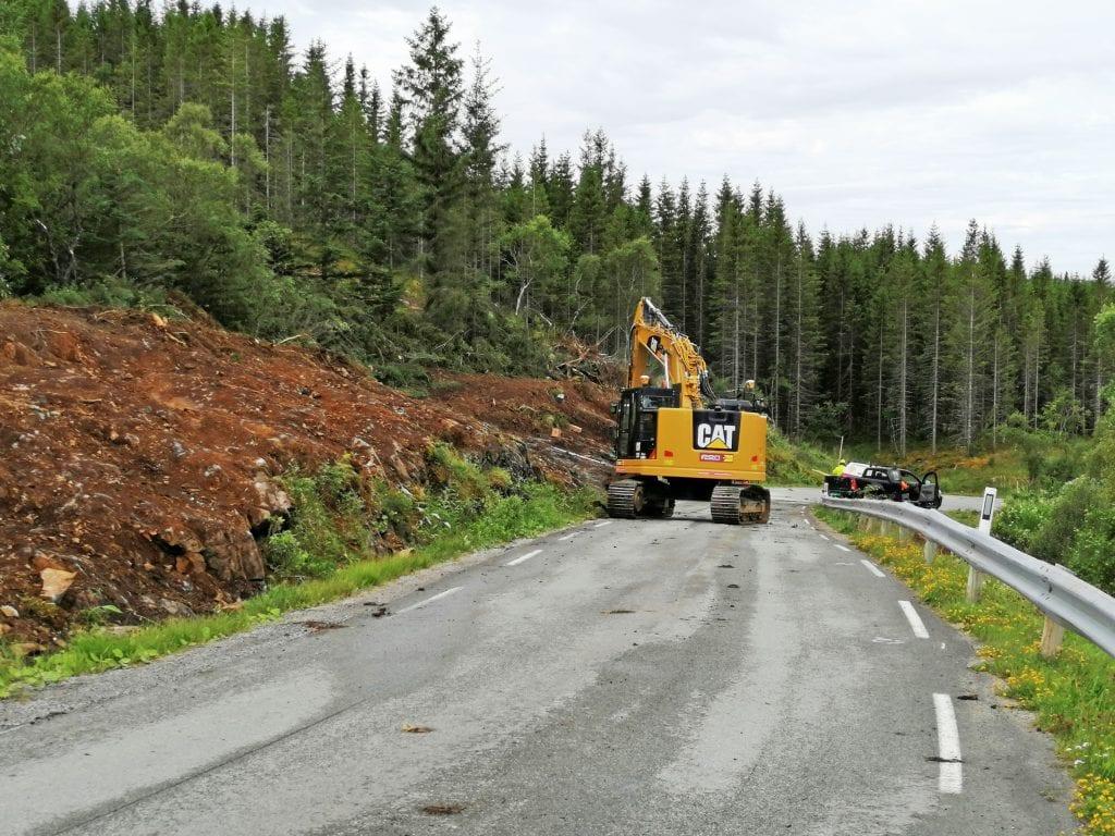 Veien opp til Kleivskaret skal utvides i sommer.