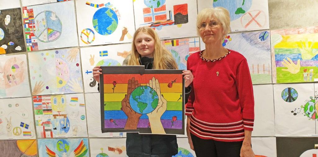 Synne Antonsen vant den lokale konkurransen, med det Marta Rønning beskriver som en fantastisk fin tegning.