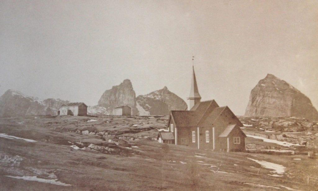 Havfolkets kirke var fram til i 1908 rødmalt.